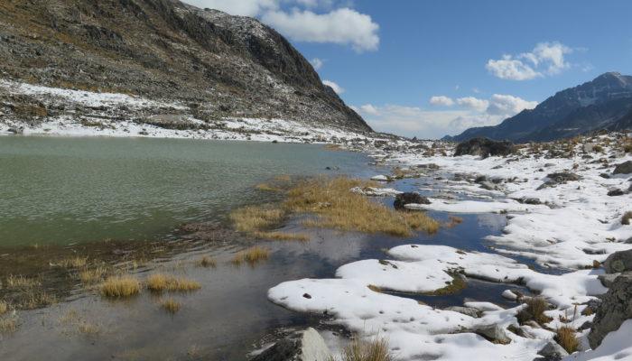 JOUR 1 : LA PAZ – LAGUNA KHOTIA – LAGUNA JANQ'U QUTA (4.715 m alt.) – CAMP CERRO WILA LLUXITA (4.895 m alt)